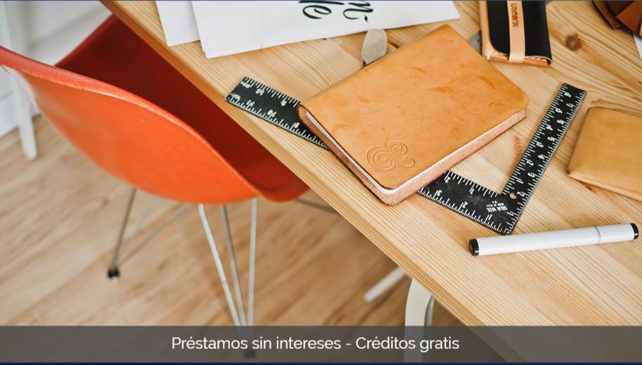 Préstamos sin intereses - Créditos gratis